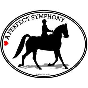 HORSE Bumper Sticker   A PERFECT SYMPHONY   Dressage horse decal   Can