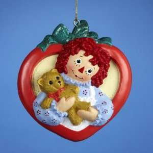 Club Pack of 12 Raggedy Ann in Heart with Teddy Bear Christmas