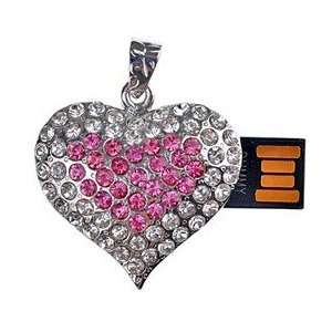 8GB Heart Shape U Disk USB Flash Memory Drive with