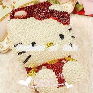 3D Iphone 4/4S bling crystal hello kitty Handmade cover