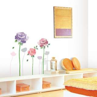 decor accents self adhesive wall sticker violet rose kr 0017