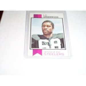 Pittsburgh Steelers LC Greenwood 1973 topps football trading card #165