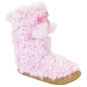light Pink Fuzzy Fur Boot slippers medium 13/1 & Large 2/3 Girls NWT