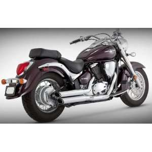 Vance & Hines Twin Slash Staggered   Black 48293 Automotive