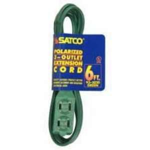Satco 6 FT Green Indoor Light Duty Extension Cord   935020
