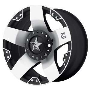24x12 KMC XD Rockstar (Matte Black w/ Machined Face) Wheels/Rims 8x170