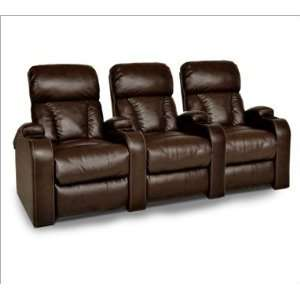 Albany 8630 Power Recline Bonded Leather Home Theater Seats   Row of 3