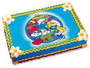 Papa Smurfette Party Edible Image Birthday Cake Topper LUCKS