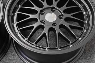 19 BMW LeMans Wheels Matte Black E39 5 Series 525 528