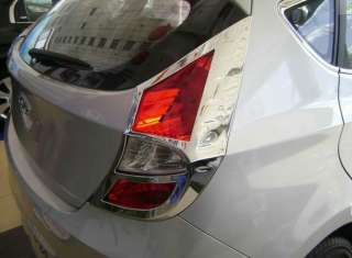 Chrome Tail Light Lamp Cover trim for 2012 Hyundai Accent