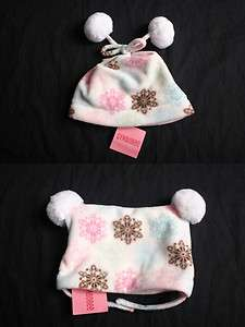 Winter Ballerina snowflake girls hat sizes 12 18 24 months 2T 3T 4T