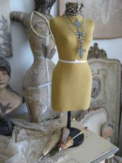 OMG Old Vintage Petite HALF SCALE Display DRESS FORM Woman Table Top