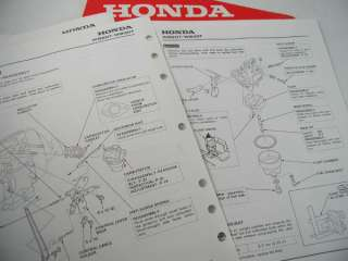 HONDA PARTS WB20T WB30T WATER PUMP SHOP SERVICE MANUAL