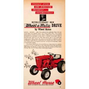 1965 Ad Wheel Horse Lawn Garden Tractor Power Equipment Wheel