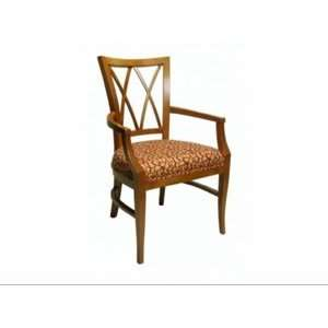 Diamond Back Arm Chair, 1EA, Arm Chair, Diamond Pattern Back Wood Slat