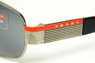 PRADA SPORT SPS 50H 5AV 5Z1 SUNGLASSES GUNMETAL METAL GREY POLARIZED