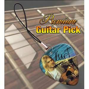 Kurt Cobain Premium Guitar Pick Phone Charm Musical