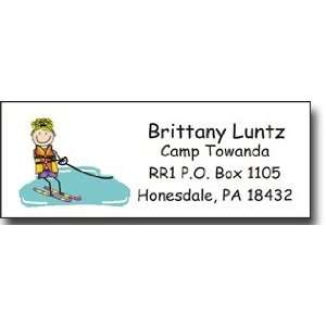Address Label (Waterskier Girl   Full Color)