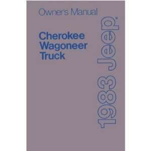 1983 JEEP CHEROKEE TRUCK WAGONEER Owners Manual Guide