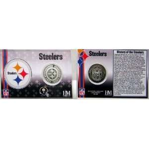 Pittsburgh Steelers Team History Coin Card   Collectible
