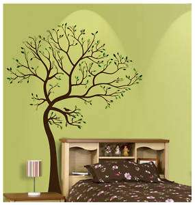 LARGE TREE BROWN GREEN WALL DECAL Art Sticker Mural