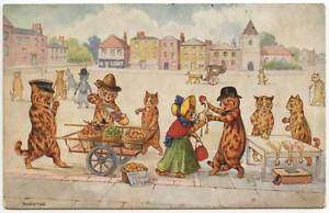Tuck Louis Wain Cats Marketing Postcard