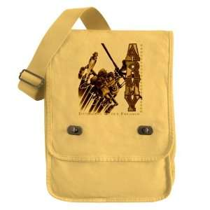Messenger Field Bag Yellow Army US Military Defenders Of Our Freedom