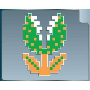 PIRANHA PLANT 8 bit from Super Mario Bros. vinyl decal sticker