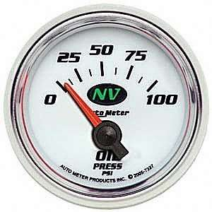 Auto Meter 7327 NV Short Sweep Electric Oil Pressure Gauge Automotive