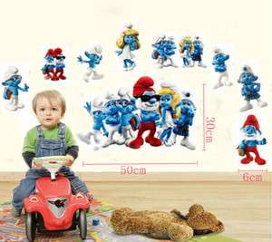 Children Smurf Nursery Wall Sticker Decals art paper Decor