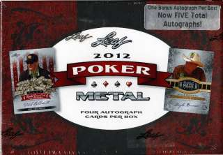 2012 LEAF METAL POKER TRADING CARDS BOX BLOWOUT CARDS