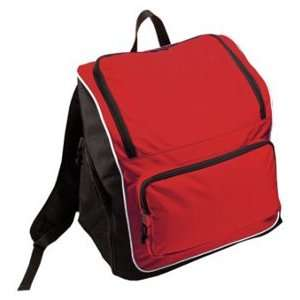 Sportsman Super Heavy Oxford Canvas Backpacks SCARLET/BLACK/WHITE 18 X