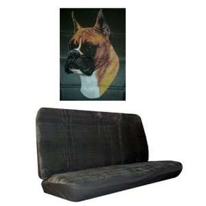 Car Truck SUV Boxer Dog Print Rear Bench or Small Truck Seat Covers
