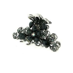 with Acrylic Gems Antique Silver Flower Hair Clip