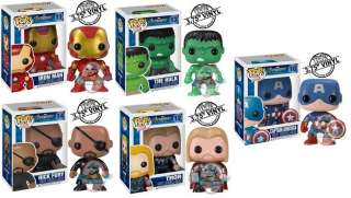 The Avengers Set of 5 Pop Vinyl Figure Funko Thor Iron Man Nick Fury