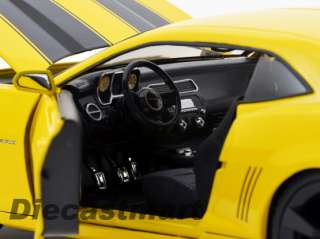 JADA DUB CITY 118 2010 CHEVY CAMARO BUMBLE BEE YELLOW