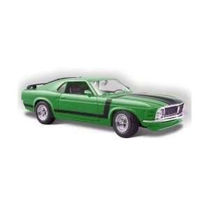 Yellow 1970 Ford Mustang Boss 302 124 Scale Die Cast C