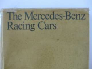 Mercedes Benz Racing Cars HB Book 1st Edition Vintage 1971