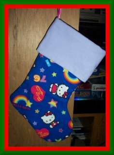 Handmade Christmas Stocking ~ Blue Hello Kitty BCMM CBD