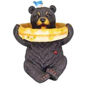 14 Tall Sold Sitting Black Bear Bird Feeder Honey Pot