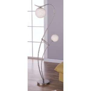 Twin Sweeping Arm Chrome Finish Floor Lamp
