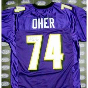 Michael Oher Autographed/Hand Signed football jersey (Baltimore Ravens