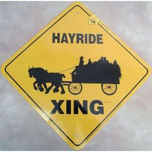 Draft Horse Hayride Xing Sign