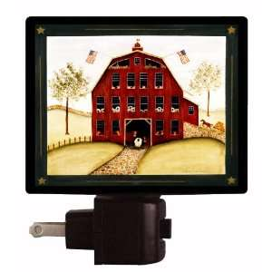 Country and Folk Style Night Light   Barn View   LED NIGHT