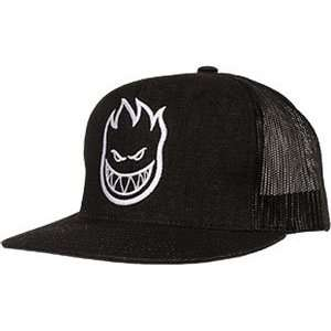 Spitfire Firehead Mesh Hat Adjustable   Black Denim/White