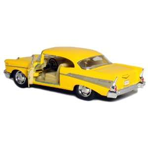5 Die cast 1957 Chevy Bel Air Coupe 140 Scale (Yellow