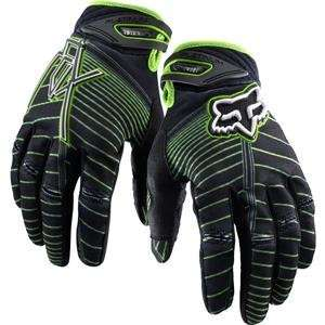 Fox Racing Platinum Vamplifier Gloves   10/Black/Green Automotive