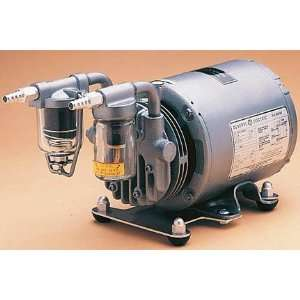 Gast Lubricated Rotary Vane Type Pressure/Vacuum Pump; 115V 60Hz, w