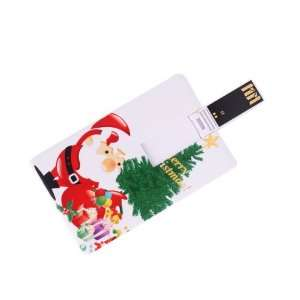 1GB Santa & Christmas Present Credit Card Style USB Flash