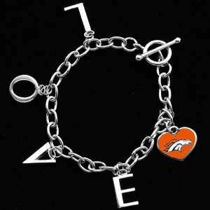 Touch by Alyssa Milano Denver Broncos Ladies Love Chain Charm Bracelet